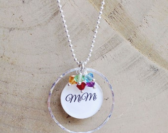 Grandma Necklace - Mother's Day Jewelry - Personalized Necklace - Mothers Necklace - Grandchildren - Grandmother Necklace - Grandma Jewelry
