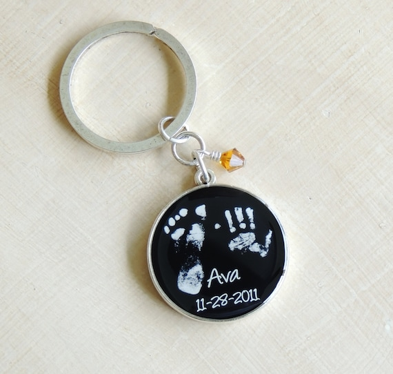 Baby Footprint Keychain - Mother's Day - Father's Day - Daddy Gift - Baby Footprints - Infant Loss - Grandparent gifts