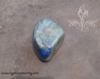 Lapis Lazuli Tumbled Gemstone Crystal - 1 piece Large Size (LL0014) Organization, Intuition, Psychic Abilities, Third Eye Chakra