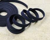 5 Yds(450 cm or 15Ft) Navy -5 of 900X10mm Faux Suede Lace Straps-(FS10-02)