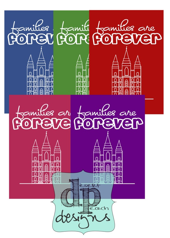 LDS 2014 Primary theme - Families are forever - 5x7 digital printable ...