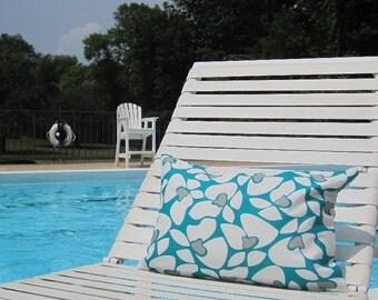 outdoor pillows, outdoor pillow cover, lumbar, teal pillow, turquoise pillow, grey pillow, 12x16 pillow, patio decor, patio pillow, sale