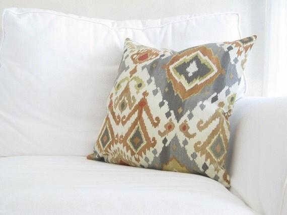 gray sofa orange pillows - photo #27