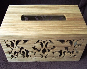 Tissue Box Holder - Rectangular - Maple or Oak or Walnut