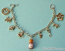 Alice in Wonderland Magical Charm Bracelet, Your Choice of Magic - Drink Me or Mad Magic, Disney Inspired, by Life is the Bubbles