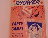 40's-50's BRIDAL SHOWER Party Game Book Paper Ephemera Leister Game Co. Ohio USA