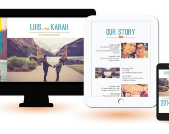 Wedding Website or Event Website made to match your theme