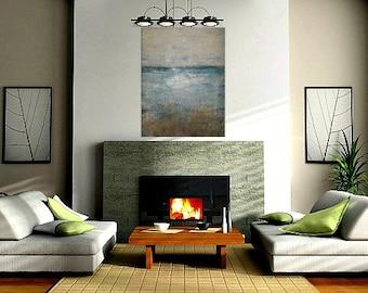 Large Seascape Contemporary Modern Fine Art Land and Sea Spirits, 36x48x1, by Sherischart