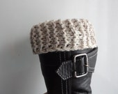 Knit Boot Socks, Women's Knit Accessory, Boot Accessory Short Leg Warmers Boot toppers or boot cuffs Short Knitted Leg Warmers boot socks