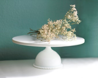 Hobnail Cake Stand / Milk Glass Hobnail / Vintage Milk Glass for Modern Weddings / Teal Green Weddings / Cake Stands by The Roche Studio