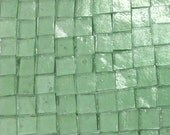 """MING GREEN TRANSPARENT 100 3/8"""" Stipple Stained Glass Mosaic A35"""