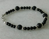 Black tourmaline and Shungite bracelet for men or women