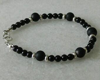 Black tourmaline and Shungite bracelet for men or women