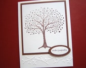 Dotted Bare Tree Sympathy Card