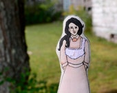 Anne of Green Gables Art Doll. Diana Barry. Hand-painted embroidered cloth doll by alyparrott on Etsy.