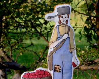 Johnny Appleseed - Hand Painted Art Doll by AlyParrott on Etsy. Ready to ship.