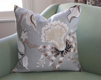 Schumacher Hot House Flowers Cushion Cover.  20 Inch