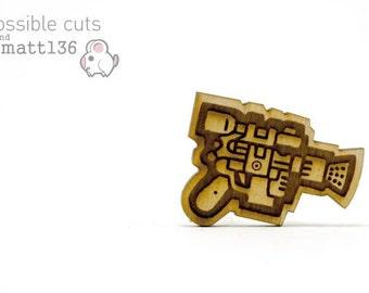 Blaster Pin Designed by Matt136 - Handmade - Laser Cut Jewelry