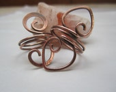 Set of Two Copper Rings Custom for Teresa