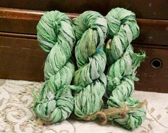 Sari Silk Ribbon - 5 Yards of Pale Green