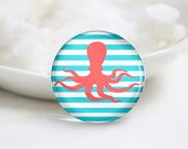 10mm 12mm 14mm 16mm 18mm 20mm 25mm 30mm Handmade Round Photo Glass Cabs Cover-Octopus (P2014)