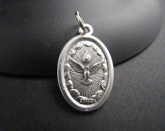 Holy Spirit/Holy Family Reversible Catholic Italian Made Medal