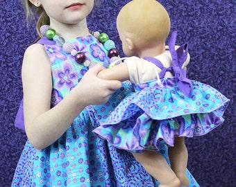 Mia's Reverse Knot Twirly Dress for Dolls PDF Pattern - 15- and 18-inch dolls