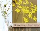 Bronze Fennel card - english garden, sculptural flower