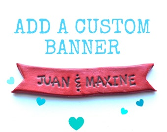 Customizable Cake Topper Banner