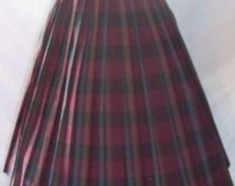 Vintage 1950s Plaid Bouffant Skirt
