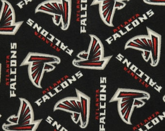 NFL Atlanta Falcons Fleece Fabric by the yard