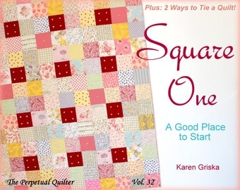 Square One Quilt Pattern, Easy Quilt Pattern, Tied Quilt Pattern, Modern, Traditional, pdf, qtm, Scrap Quilt