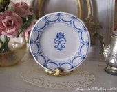Blue Chantilly Dollhouse Plate