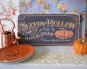 Sleepy Hallow Sign/Print for Dollhouse
