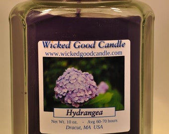 Glass Jar Candle Soy Paraffin Blend - Hydrangea