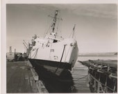 "Vintage Photo ""Docked Ship"" US Coast Guard Photo Eastwind Cutter"