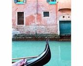 Venice in Aqua and Coral - Fine Art Photo - Pink - Turquoise - Venezia - Venice - Travel Photography - Terracotta - Salmon - Peach -