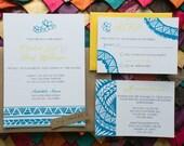 Custom Samoan Inspired Wedding Invitation RESERVED