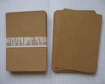 25  Blank Kraft Paper for DIY Postcards,Invitation Cards with rounded corners (10.50x15 cm.)