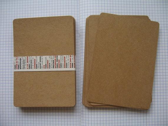 Set of 30 Flat Brown Kraft Paper Postcards / Note Cards / Blank Kraft Cardstock  -- (Size 10.50x15 cm.)