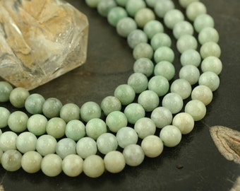 Jade, A-Grade : Approx. 7mm Round  / Natural, Boho, Earthy, Craft, Jewelry Making Supplies / Yoga, Zen, Mala, Metaphysical