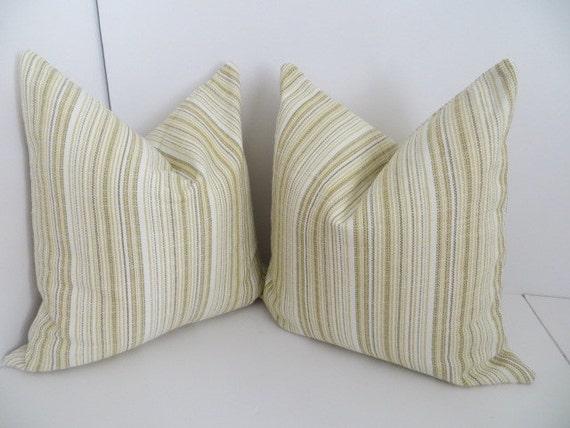Gold Stripe Decorative Pillow : Two Decorative Pillow Gold Stripe Pillow Gold Pillow