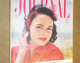 Rare Mid-Century Magazine Ladies Home JOURNAL September 1955 Complete Vintage Fashion Design House Ads Eames Mad Men Era Betty Draper 1950's