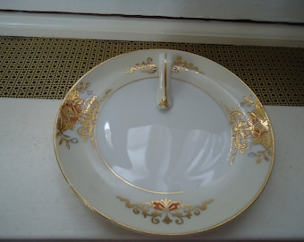 Vintage 1980's Noritake Japanese Floral Design Candy Dish with Handle