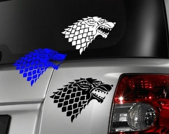 Game of Thrones Direwolf inspired car window decal