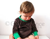 Jumper baby toddler brown green velour sweater top jumper unisex babies comfy fashion for kids british design original handmade nordic style