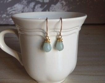 Unique Amazonite Teardrop Earrings