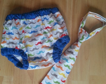 colorful mustache cake smash outfit, rainbow nustache and blue diaper cover and tie outfit for boys, mustache birthday outfit, little man