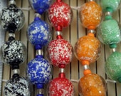 Halloween Design Glow In Dark 15mm Round Handmade Lampwork Glass Beads(Pack of 12 beads) L01012