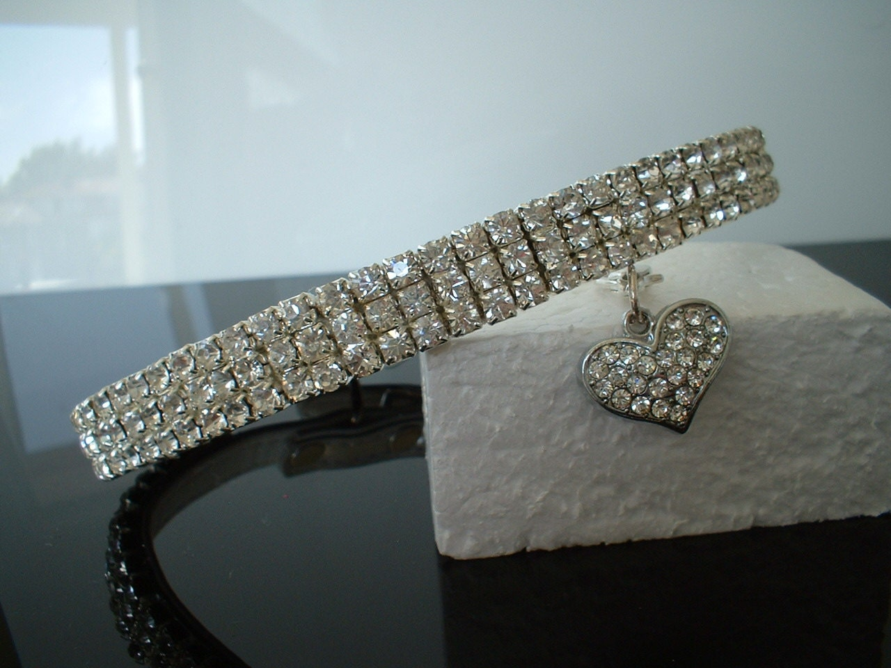Crystal Cat or Dog Collar Diamond by thecrystalpetpalace: https://www.etsy.com/listing/196930153/crystal-cat-or-dog-collar...